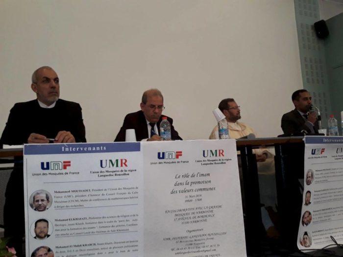 """Conférence """"Le rôle de l'imam dans la promotion des valeurs communes"""" le 31 mars 2018 à Narbonne"""