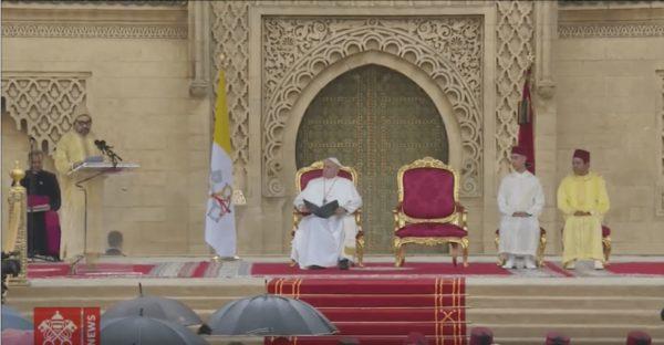 Discours du Roi Mohammed VI à l'occasion de la visite du pape François au Maroc (texte intégral)