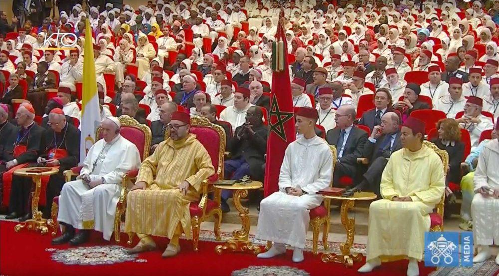La visite du Roi Mohammed VI et le Pape François à l'institut Mohammed VI