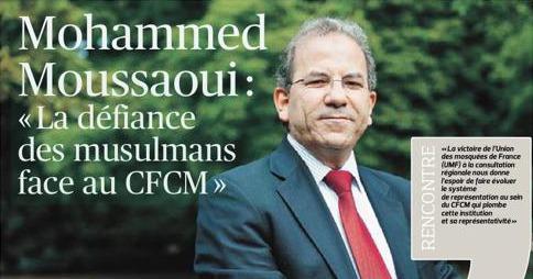 Interview de Mohammed MOUSSAOUI, président de l'UMF au journal Lefigaro